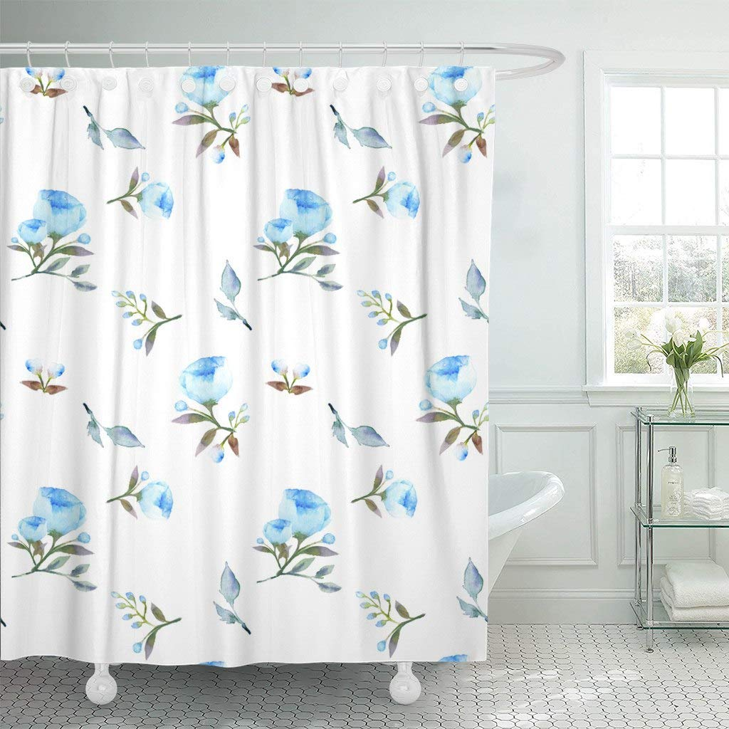 Us 17 06 36 Off Shower Curtain Hooks Brown Adorable Beautiful Blue Peony Rose Petal Green Beauty Best Book Decorative Bathroom In Shower Curtains