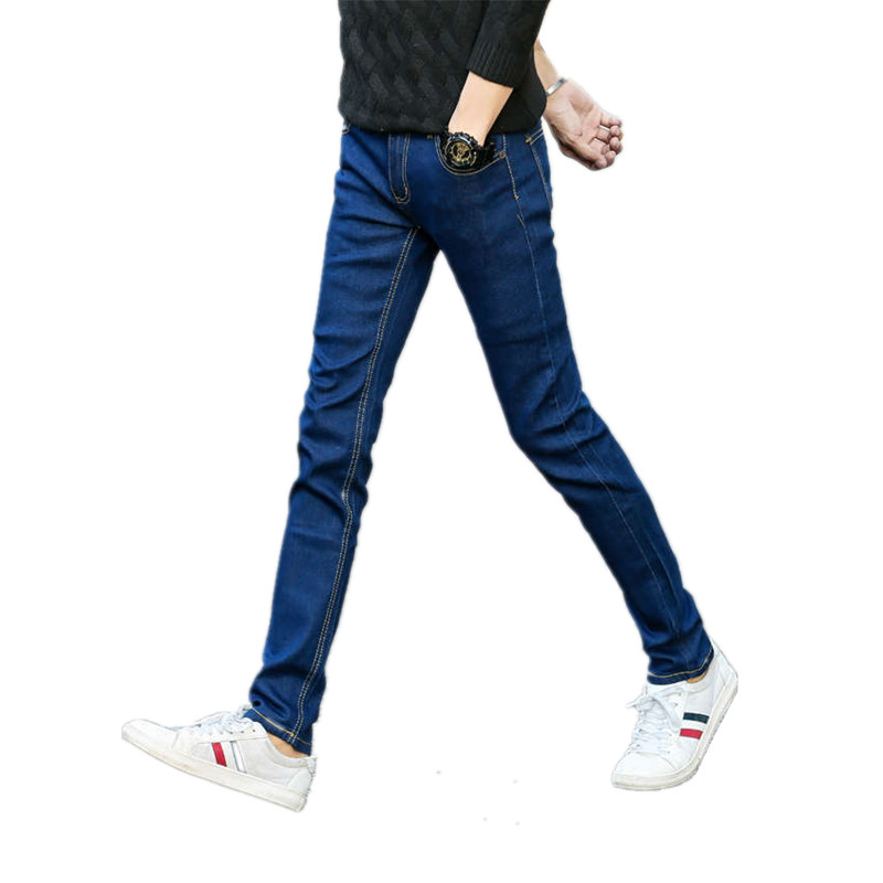 XT1103 The new 2017 han edition cultivate one's morality spring elastic jeans like a man teenagers small feet tide leisure in the spring of the new han edition cuhk boy sports leisure fleece two piece outfit