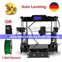 Tronxy 3D принтеры Auto Level i3 комплекты DIY принтер экструдер MK3 heatbed 3d печати Размеры 220x220x240 мм добавить SD карты и 1 рулон нити