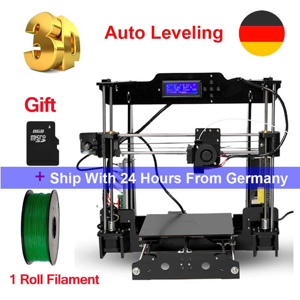 Tronxy 3D impresora de nivel automático i3 de impresora DIY kits de extrusora de MK3 heatbed 3D tamaño de impresión 220x220x240mm tarjeta SD y 1 rollo filamento