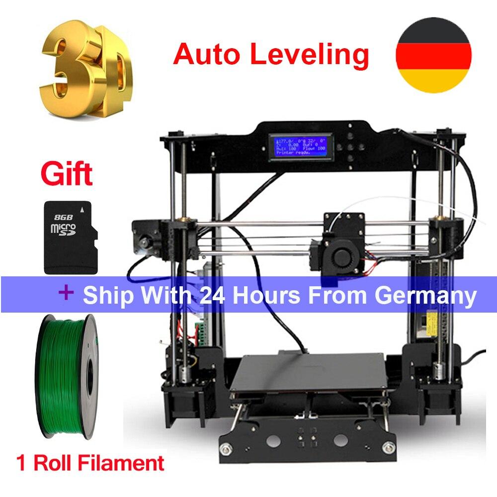 Tronxy imprimante 3D Auto niveau i3 imprimante bricolage kits extrudeuse MK3 lit thermique impression 3D taille 220x220x240mm ajouter carte SD & 1 rouleau Filament