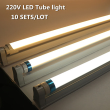 10 Sets/Lot 60cm 600mm Constant current High Bright LED Tube T8 Lamp AC 220V 8W LED T8 Integrated Driver Fluorescent Lamp Bulb mtspace high quality 220 240v ac 36w wide voltage t8 electronic ballast fluorescent lamp ballasts