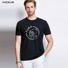 Модные футболки ajax, забавные мужские футболки, футболки с коротким рукавом, роскошные летние хлопковые футболки размера плюс, хип-хоп топы, футболки