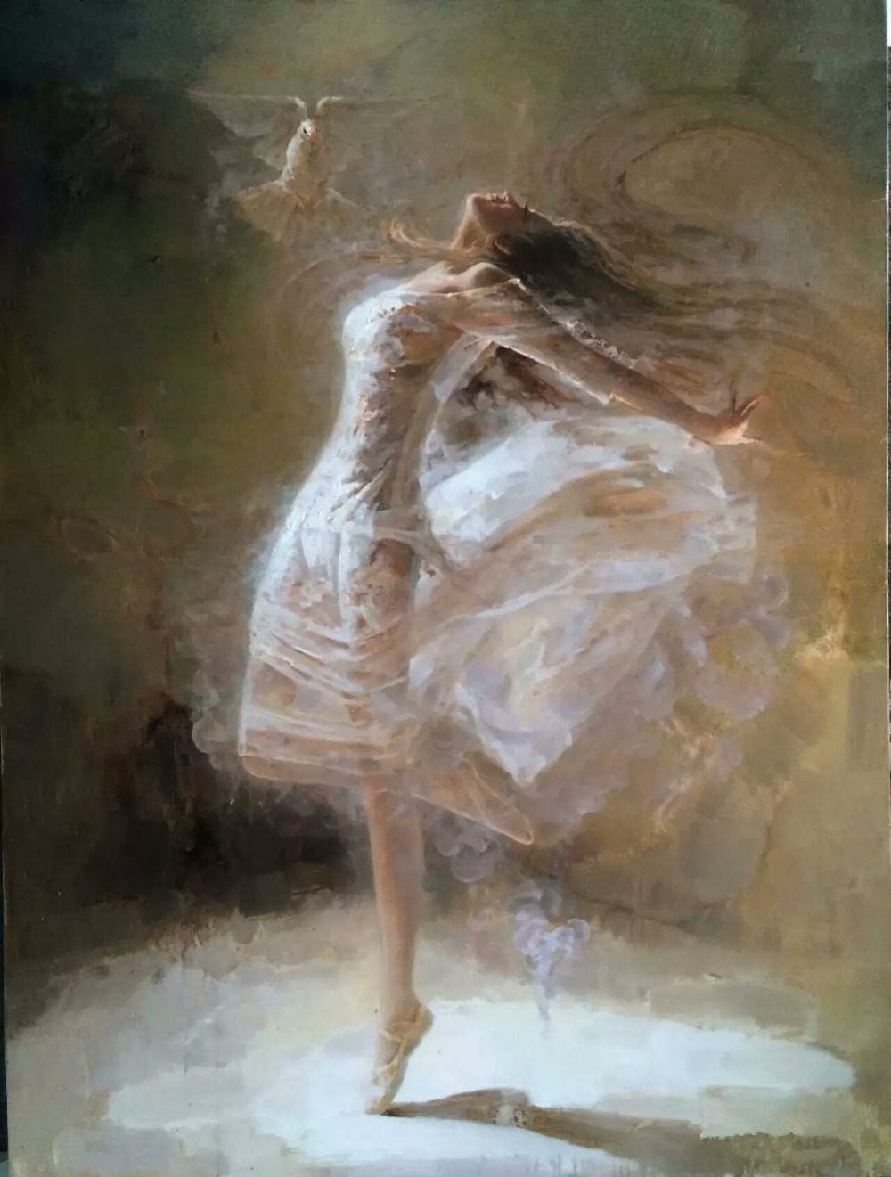 New Year Gift Ballet Dancer Painting On Canvas Beautiful
