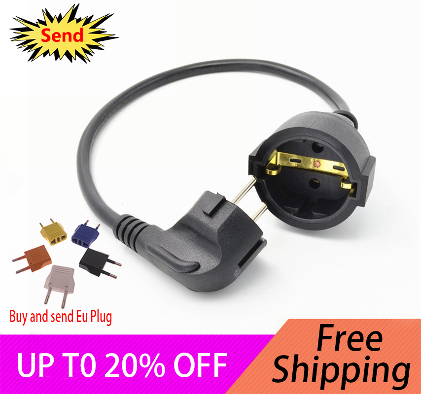EU European Germany French  2 Pin Power Extension Cable Cord Wire German French Male Plug To Female Socket Extension Cord 0.5MEU European Germany French  2 Pin Power Extension Cable Cord Wire German French Male Plug To Female Socket Extension Cord 0.5M