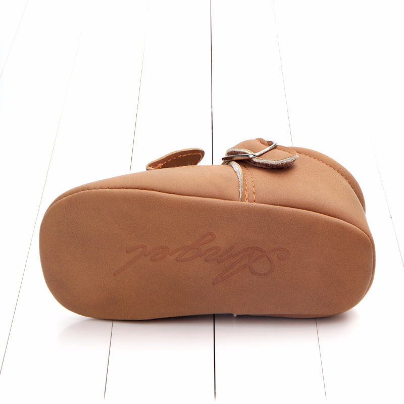 Baby First Walkers Matte leather Shoes for Baby Girl Boy Cartoon Animal Newborn Slippers Footwear Booties Kids Gift Child Shoes (6)