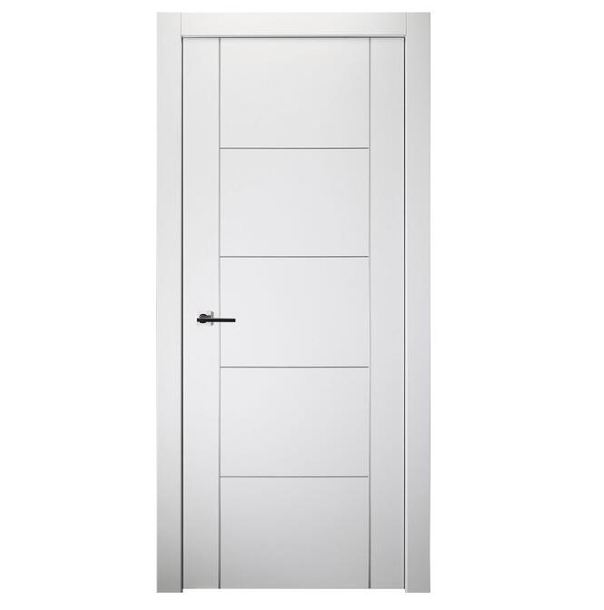 New Design Contemporary Solid Wooden Door Lacquered Enamel Modern Interior Door Slab H1902