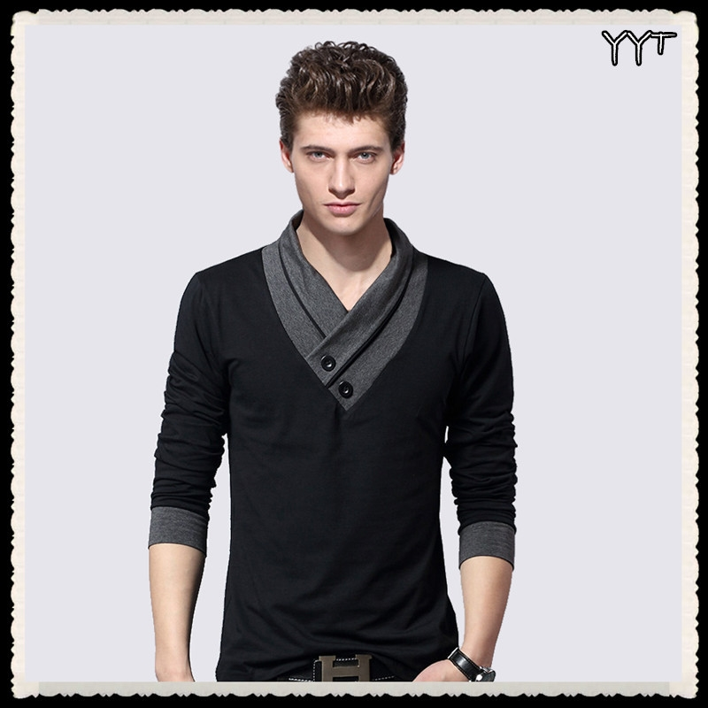 Mens Fashion Designer Cross Line Slim Fit Dress Shirts