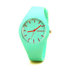 JECKSION Geneva Watches Women Sports Candy-colored 12 Colors Jelly Silicone Strap Leisure Watch Free Shipping