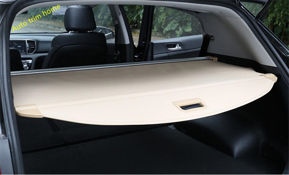 Interior For KIA Sportage 2016 2017 Rear Trunk Tail Door Cargo Cover Shield Molding Garnish Cover A Set car rear trunk security shield cargo cover for honda fit jazz 2014 2015 2016 2017 high qualit black beige auto accessories