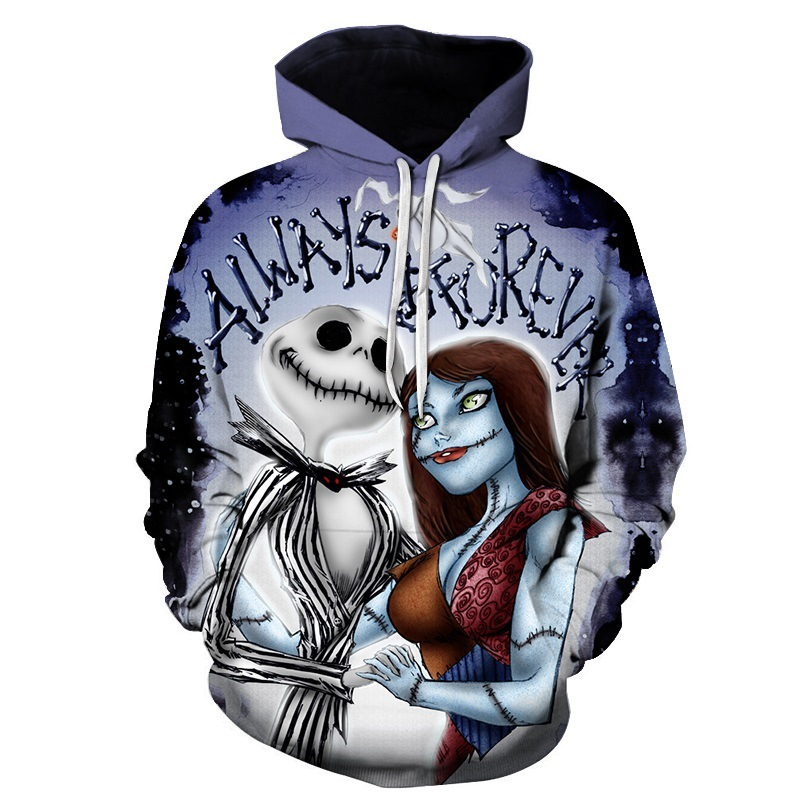 2018 3D Skull Women/Men Printed Hip Pop Sweatshirt Hoodies Casual Loose Digital Couple Hooded Hoodies for Unisex Outwear Hooded