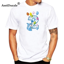 Antidazzle Second Birthday Tee 2nd T Shirt For Toddler Kids Men Cartoon