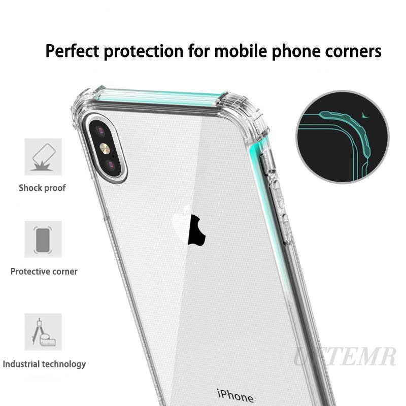 สำหรับ iPhone 11 PRO MAX สำหรับ iPhone 11 PRO MAX X XS MAX XR TPU กันกระแทกซิลิโคนนุ่มโปร่งใสกรณี