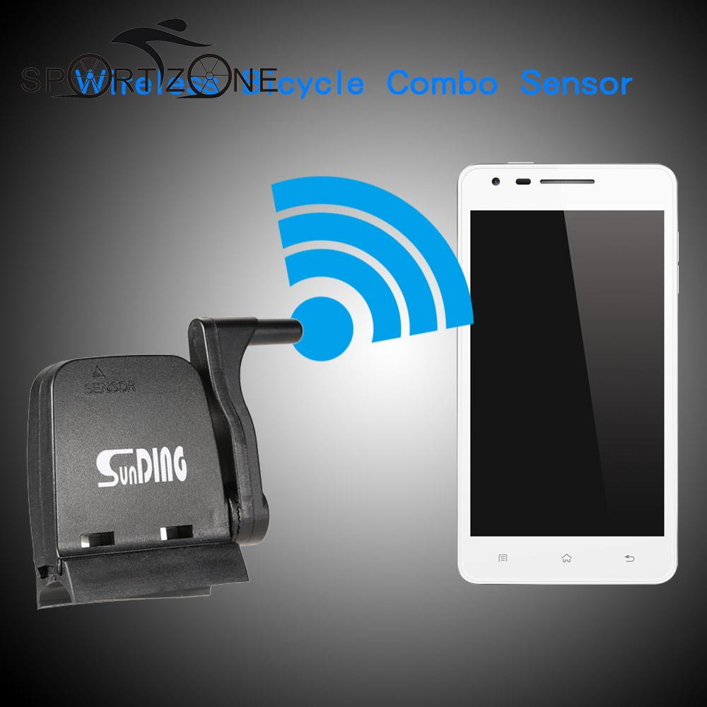 Sunding Bike Bluetooth 4.0 Wireless Combo Computer Speedometer Cadence Sensor