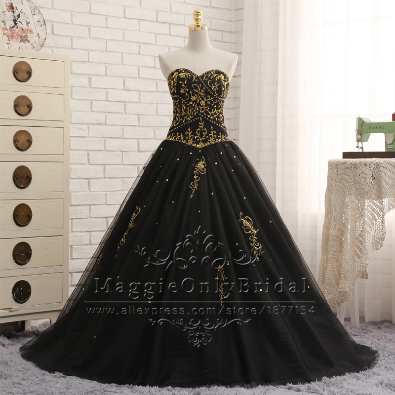 Popular Black and Gold Dress for Sweet 16-Buy Cheap Black and Gold ...