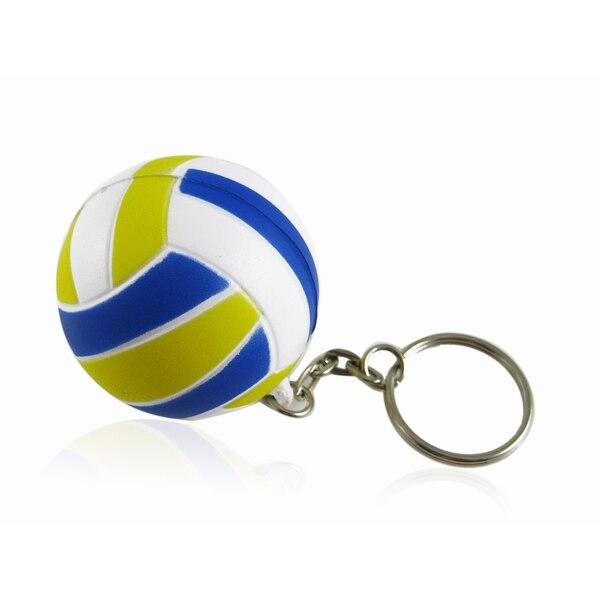 Behogar Cat Toy Volleyball Shaped Keychain Chaveiro Key Chain Ring Keyfob Holder sleutelhanger llaveros mujer france laduree