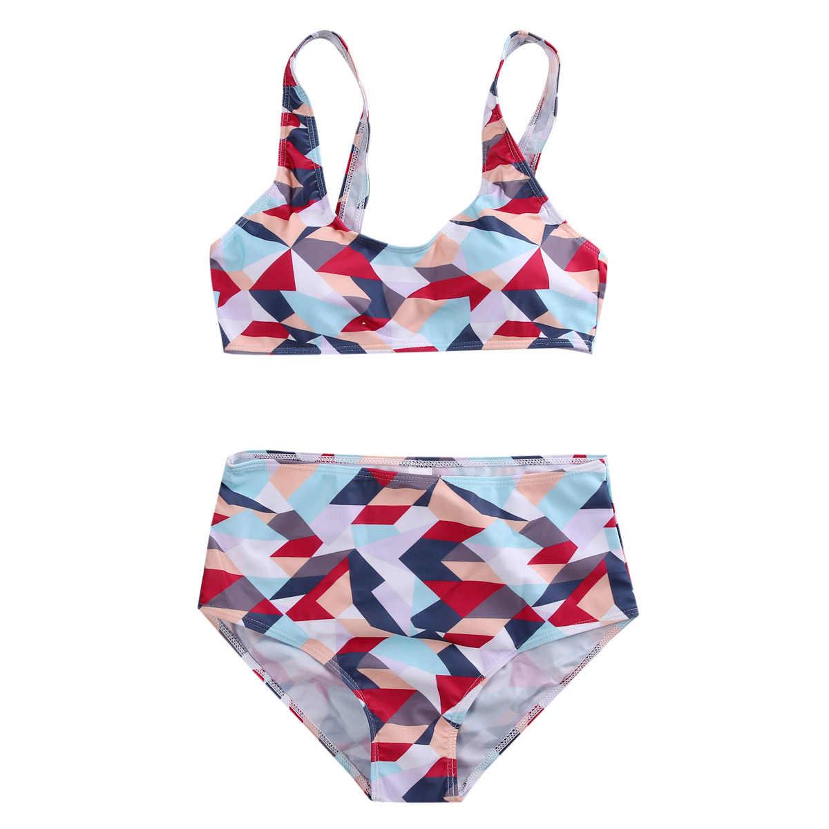 39352f8863d8 Women 2016 Print High Waist Bikini Floral Swimsuits Women Brazilian Push Up  Bikini Set Bathing Suits Plus Size Swimwear XXL