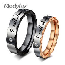 Shiny Punk New Titanium Steel ring WEDDING BAND RING Stainless Steel Couple ring Hot Fashion(China)