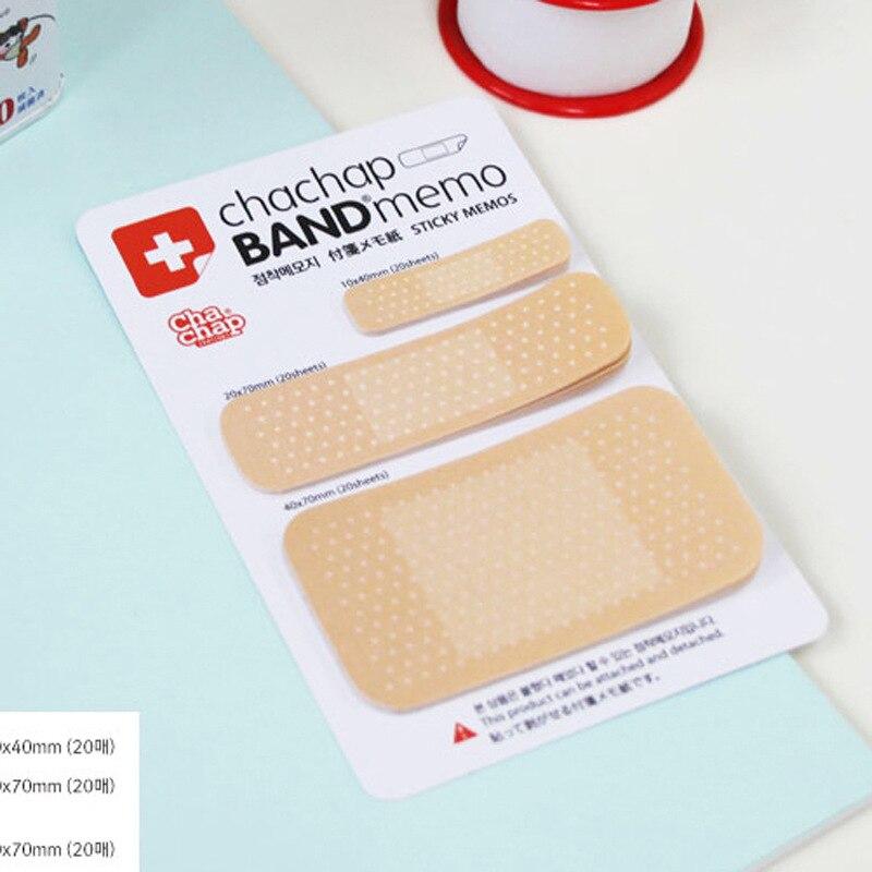 Stationary Pengiriman Gratis Kebaruan Perban Model Self Adhesive Memo Pad, Catatan Lengket, Set Hadiah Alat Tulis Grosir K6415