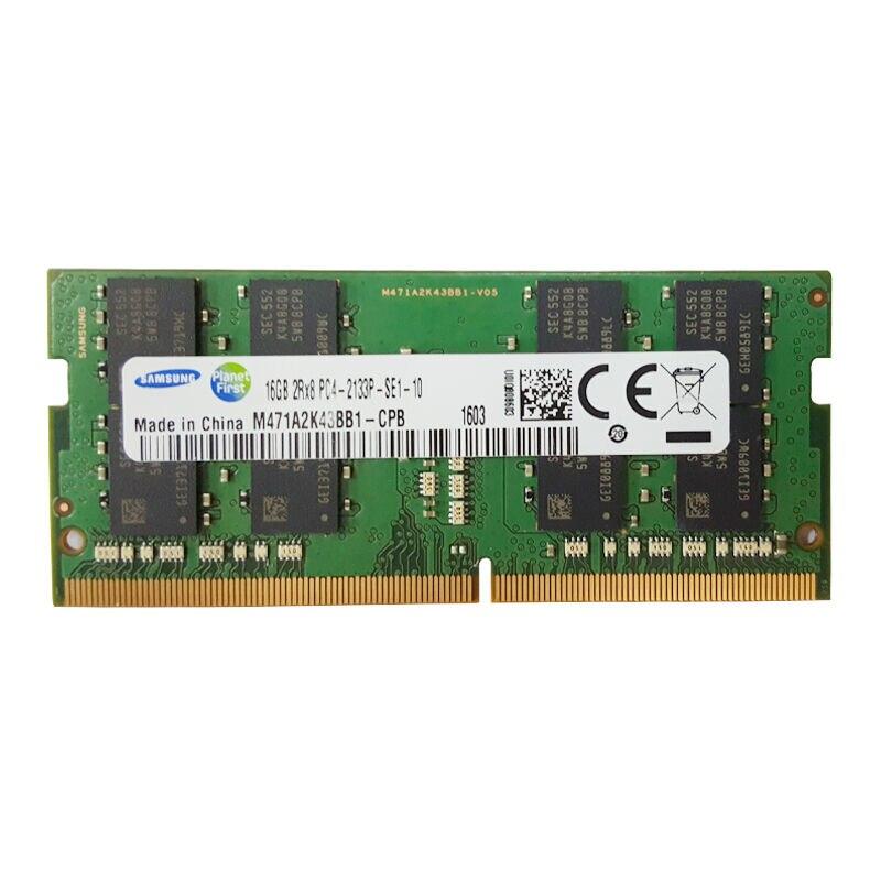 100% Original SAMSUNG DDR4 4G 8G 16G mémoire d'ordinateur portable RAM 2133 Memoria DRAM Stick pour ordinateur portable 4g 8g 16g