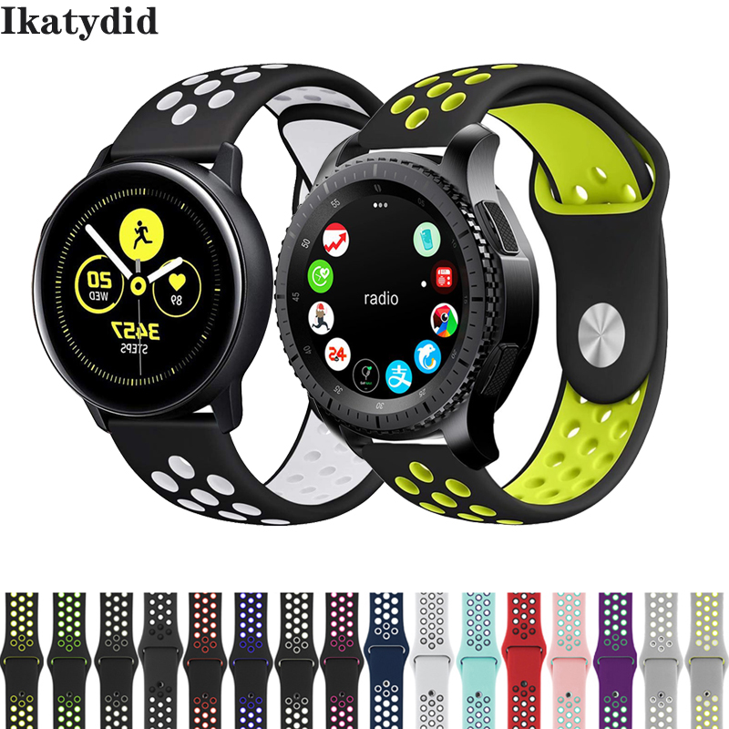 22mm 20mm Watch Band For Samsung Galaxy Watch Active 46mm Gear S3 Frontier 42mm Huawei Watch Gt Strap Silicone Watchband