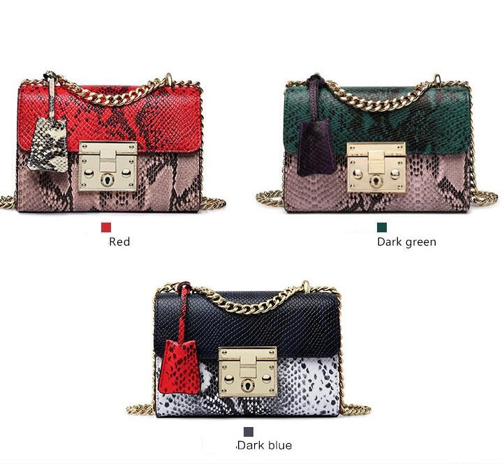 LKPRBD 2018 Brand Women Messenger Bag Panelled Crossbody Bag Fashion design Shoulder Bag Chains Women Bag