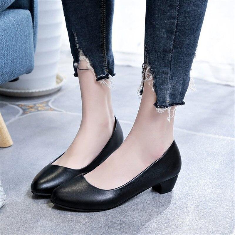 2019 г. новые женские туфли-лодочки, женская обувь из pu искусственной кожи, обувь на высоком каблуке с круглым носком, обувь для свадебной вече...