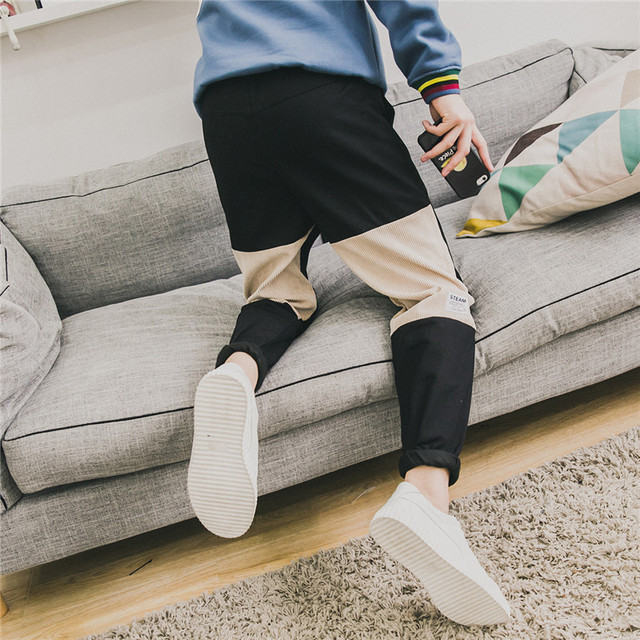 Casual Pants Men Winter Harem Loose Fit Male Sweatpants Trousers baggy Fleece Warm Pants Men Plus Size Brand Clothing