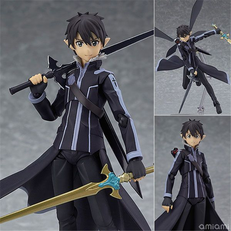 Anime Sword Art Online Figma 289 Kirigaya Kazuto Kirito Figma 264 Yuki Asuna ALO Ver PVC Action Figure Model Kids Toys Doll 15CM sword art online action figure figma shino kazuto asuna pvc 150mm toys anime sword art online series