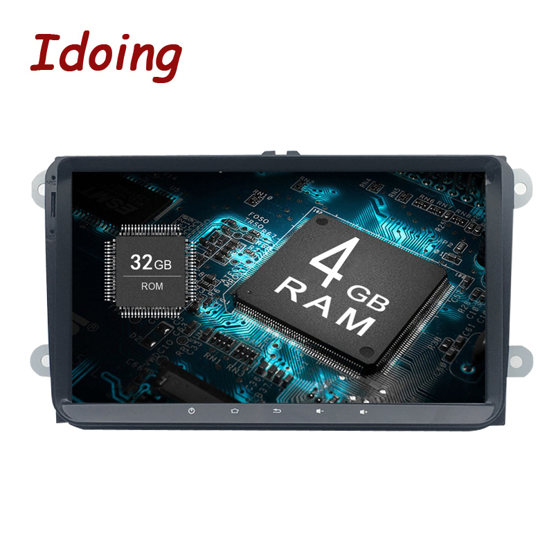 Idoing Android8.0 4G+32G 8Core 1Din For VW/Skoda/Seat Car Android GPS Player Steering-Wheel Fast Boot TV 1080P HDP GPS+GLONAS