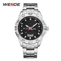 WEIDE Новинка 2019 года для мужчин Солнечный Спортивные часы Дата календари Аналоговый Цифровой нержавеющая сталь Ремешок наручные часы