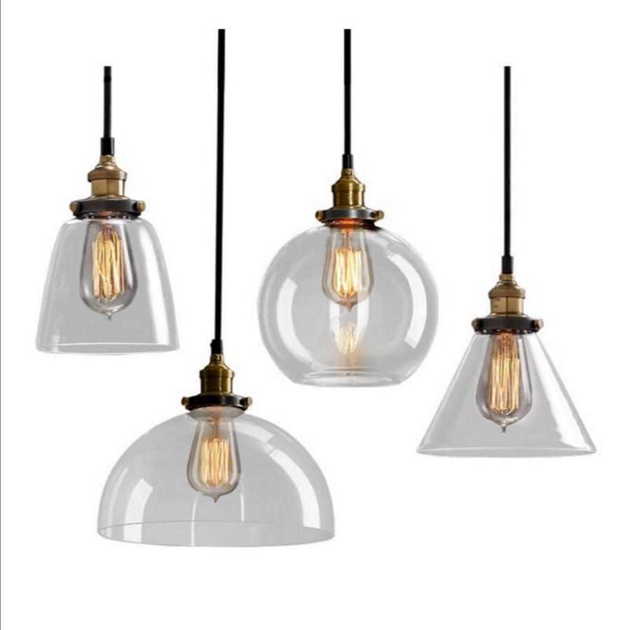 Retro vinobraní sklo závěs světlo vnitřní závěsné osvětlení American Loft styl bar restaurace dekorace svítidlo AC110-265V