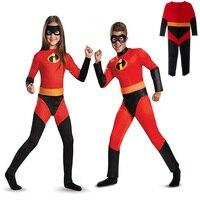 2 Pcs/Set Batman Costumes for Kids with Mask Superhero Movie Character Cosplay Halloween Masquerade Night Superman Costumes