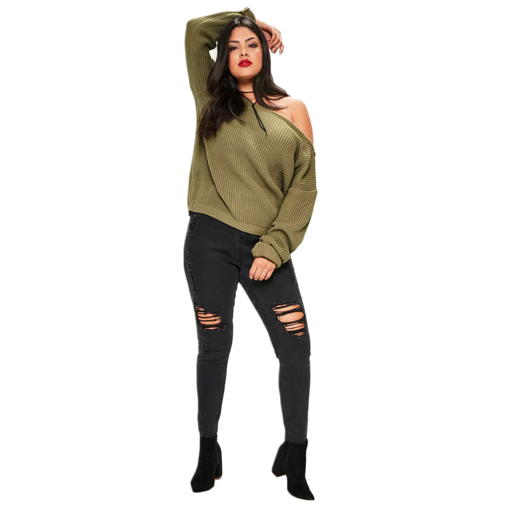 d9f0a45d8b Misskoko 2018 Fashion Plus Size Women Clothing Sexy One Shoulder Sweater  Loose Casual Full Sleeves Tops Big Large Size-in Pullovers from Women s  Clothing on ...