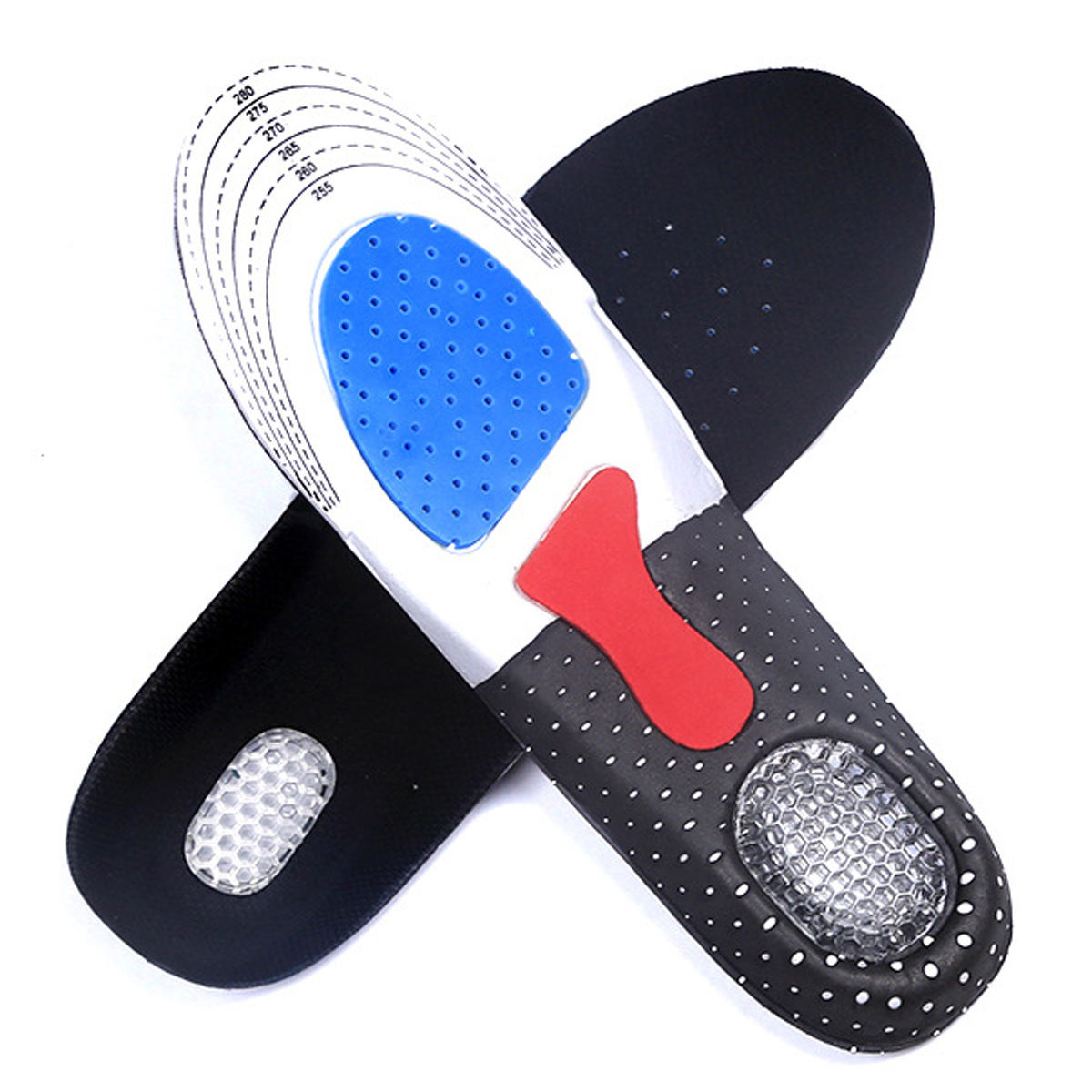 Unisex Gel Orthotic Arch Support Sport Shoe Pad Sport Running Insoles Insert Shoe Pad Arch Support Cushion for US 6-10