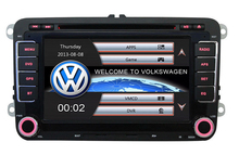 Wholesales 7 Double Din Capacitive Touch Screen Car DVD Player GPS for VW JETTA GOLF MK5