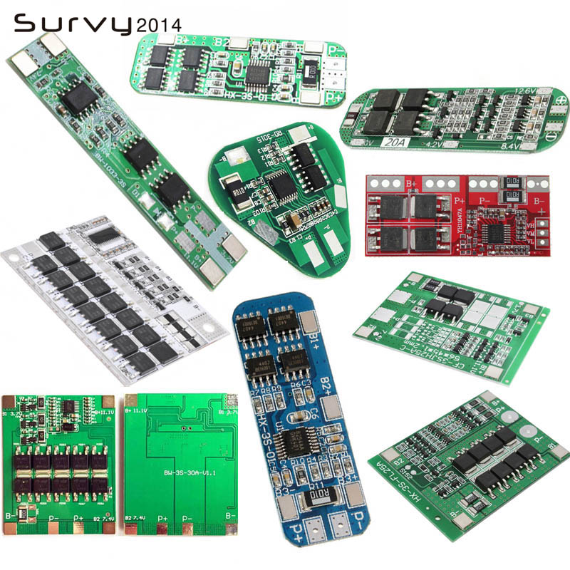 <font><b>3S</b></font> BMS 4A 8A 10A 20A Lithium Battery Charger Protection <font><b>Board</b></font> Module 18650 Lipo Li-ion Battery Cell Charging BMS image