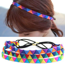 1Pcs Headband Yoga Hair Bands Sports Geo Headband Women Men Sport Anti-slip Elastic Sweatband Exercise Headband Yoga Accessories two tone geo print headband