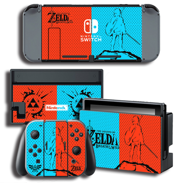 Vinyl Skin Protector Sticker for The Legend of Zeld a for Nintendo Switch NS Console + Controller + Stand Holder Skins 2