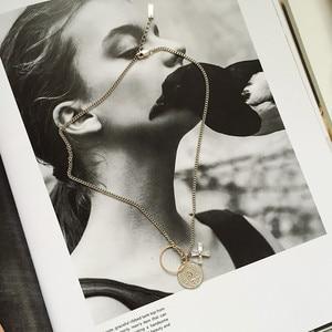 Image 4 - 925 ayar gümüş portre insan yüzü para zirkon kolye kolye moda kişilik DIY sikke kolye kadınlar takı için