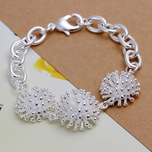 Creative H014 Fine Silver Plated Wholesale Jewelrys,hot Sale Factory Price Charm Free Shipping 925 Fashion Fireworks Bracelet /ackaitr Low Price
