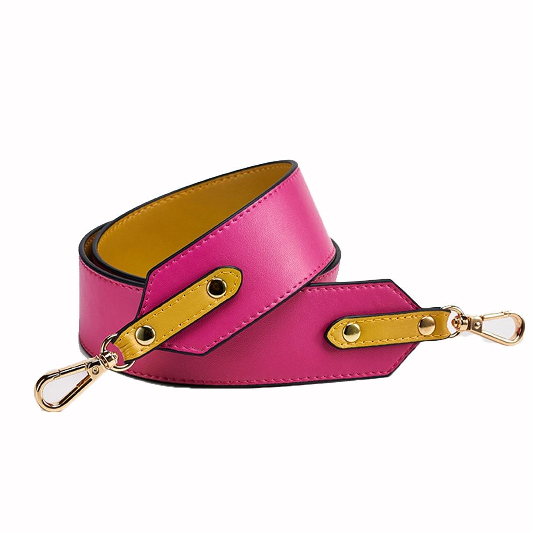 SFG HOUSE Genuine Leather Women Bag Strap Elegant Lenthened Shoulder Bag Handle Handbag Strap Wide Replacement Bags Straps