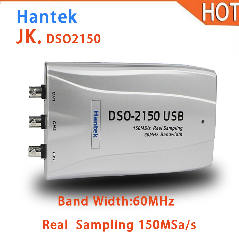 цена на 2018 hot Hantek DSO2150 Digital Oscilloscope USB PC 150MSa/s 60MHz bandwidth Hantek DSO 2150 USB 2.0