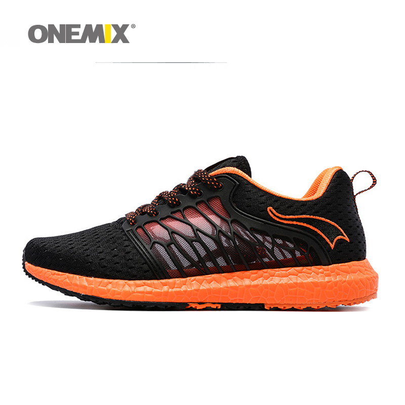 ONEMIX Summer Unisex Running Shoes Breathable Mesh Men Sport shoes lovers walking shoes Athletic Shoes Super