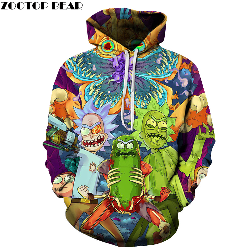 Rick and Morty Hoodies 3D Men Women Hoodies Fashion Sweatshirts Brand Hoodie 6XL Plus Size Pullover Casual Tracksuits Drop Ship
