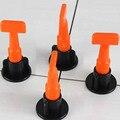 50 stücke Kunststoff Flache Keramik Leveler Boden Wand Bau Werkzeuge Reusable Fliesen Nivellierung System Kits -- M25