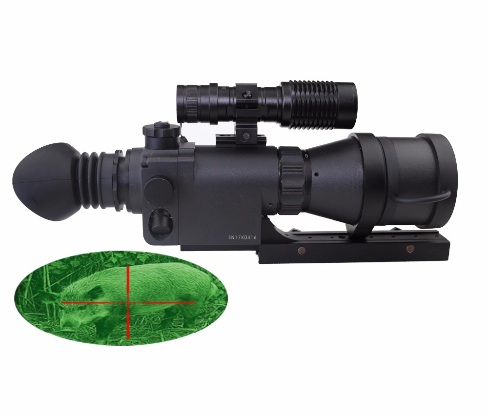 Aries MK390 Long Range Night Vision Riflescope 4x Monocular Scope Optical Sight for Hunting