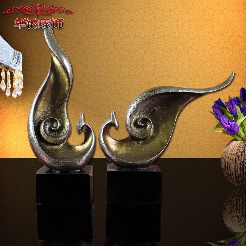 Ameublement abstrait oiseau TV armoire décoration de haute qualité résine artisanat amoureux Phoenix mariage cadeau ornements