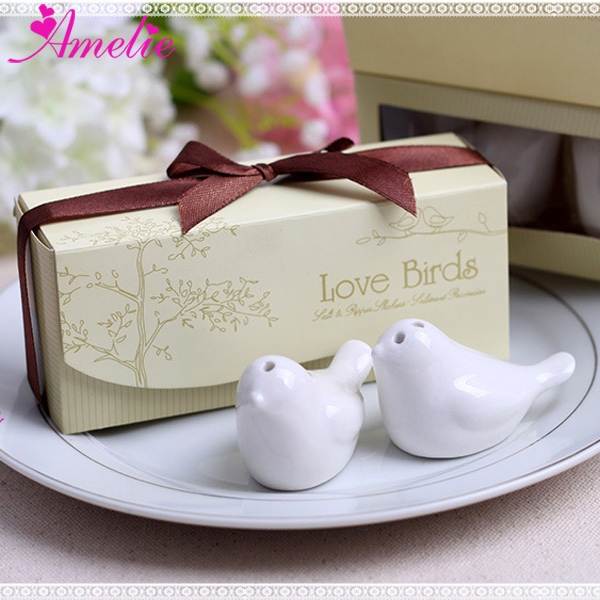 Wedding Guest Favors.50 Sets Lot Wedding Guest Souvenirs Ceramic Love Birds Salt And Pepper Shaker Giveaways Favors Party Supplies Creative Gifts In Party Favors From Home