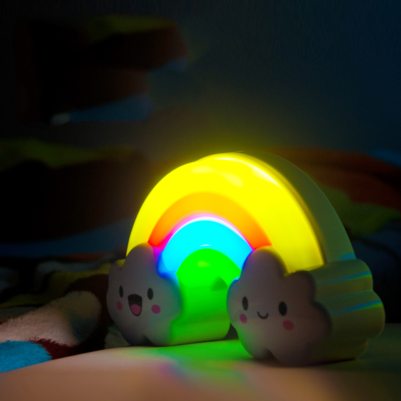 LED Bedside Table Lamp Sound and light control Lamp Night Light Rainbow Bridge Decorative light Baby Kid Childrens room bedroom